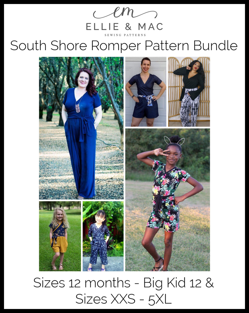 South Shore Romper Pattern Bundle