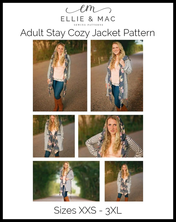 Stay Cozy Jacket Pattern (adult's)