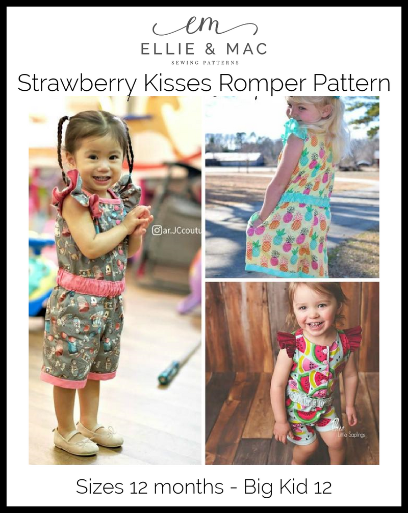 Strawberry Kisses Romper