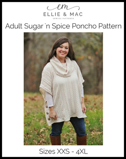 Sugar n' Spice Poncho Pattern (adult)