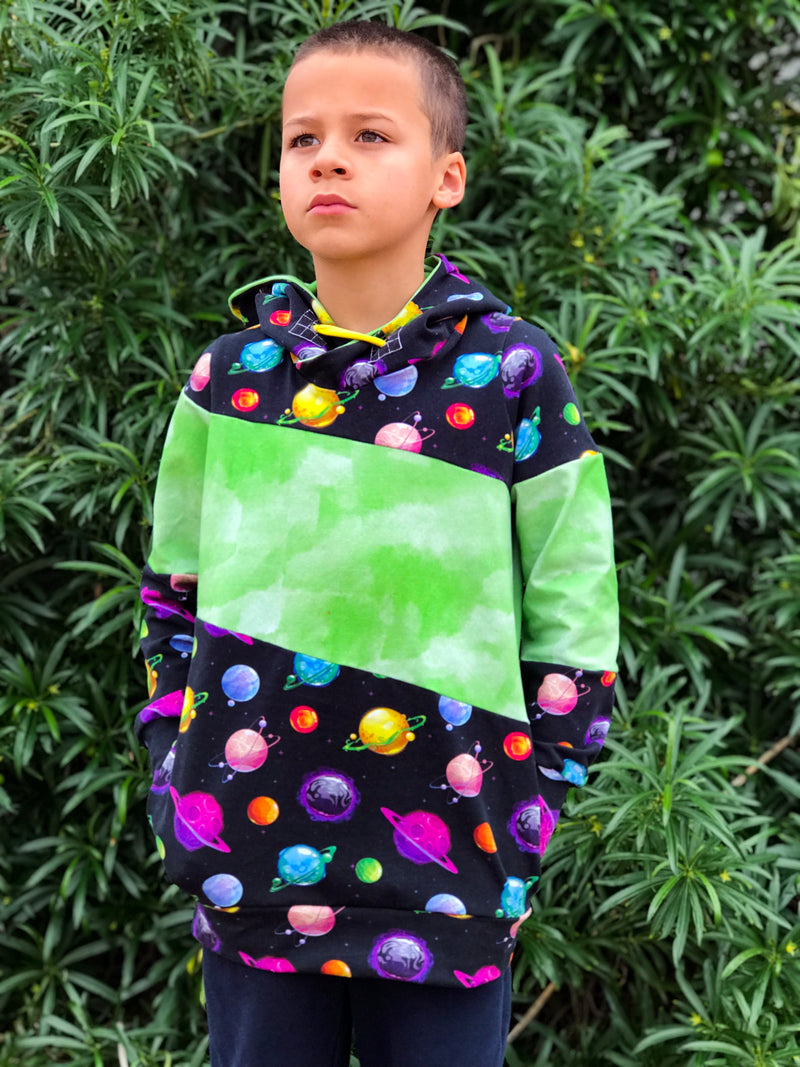 Around the Block Hoodie Pattern (kid's)
