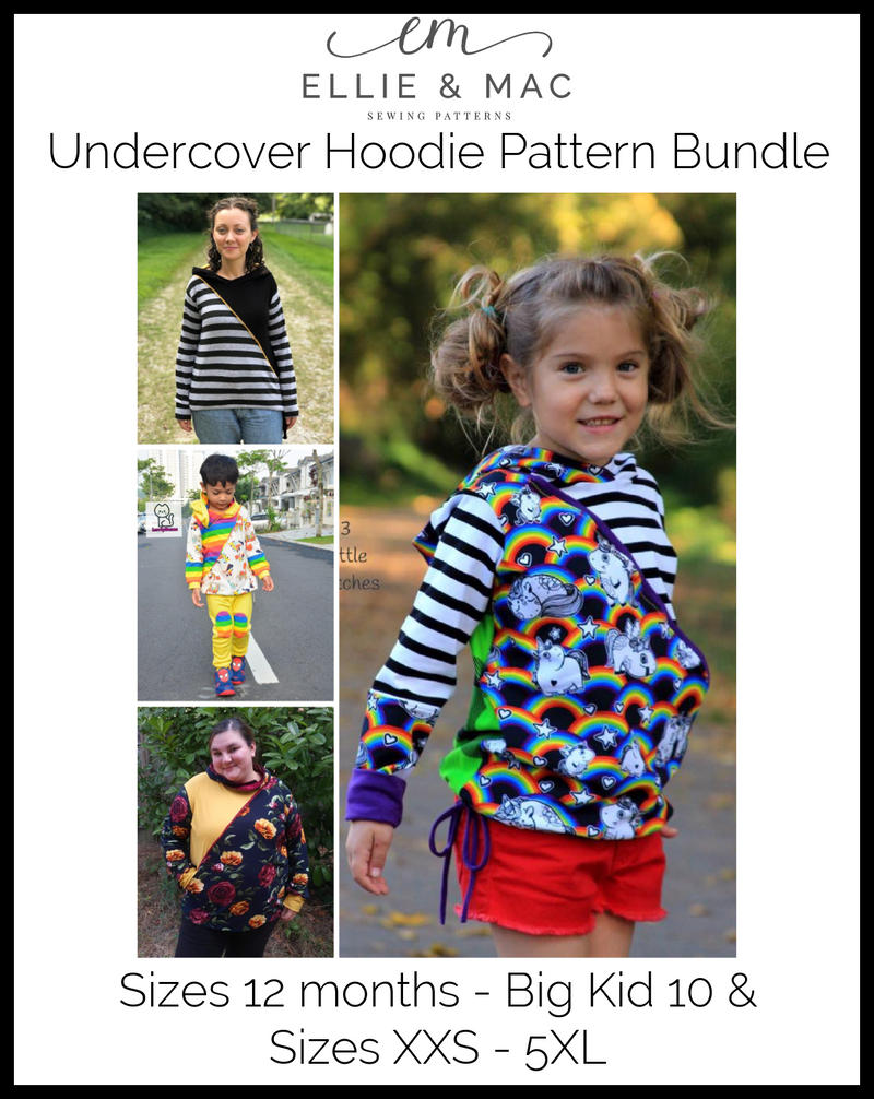 Adult & Kid's Undercover Hoodie Pattern Bundle