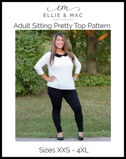 Sitting Pretty Top Pattern (adult)
