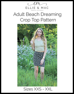 Beach Dreaming Crop Top Pattern (adult)