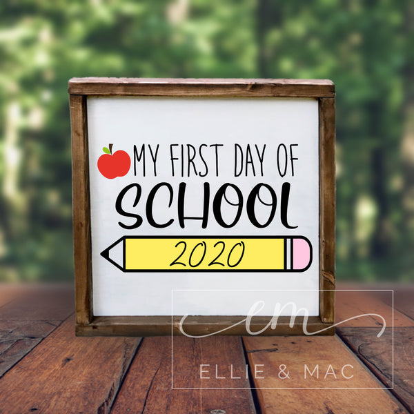 First Day of School Cut File