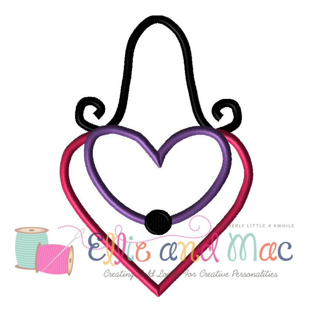 Heart Purse Applique Design