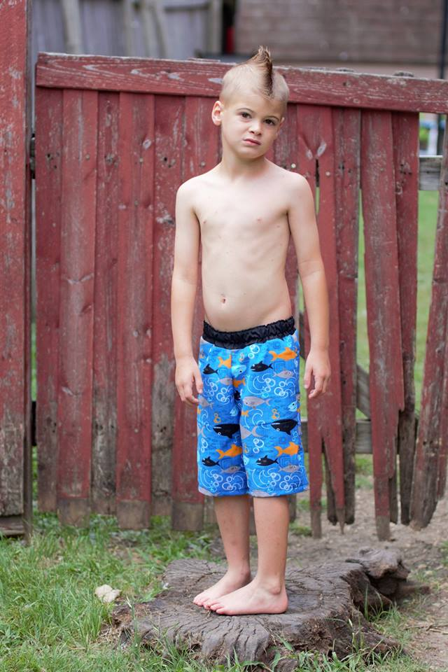 Boy's High Tide Boardshorts & Swim Briefs Pattern - Ellie and Mac, Digital (PDF) Sewing Patterns | USA, Canada, UK, Australia