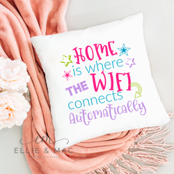 Home Is Where The Wifi Connects Automatically SVG Cutting File