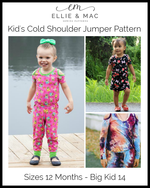 Kids Cold Shoulder Jumper Pattern Wacky