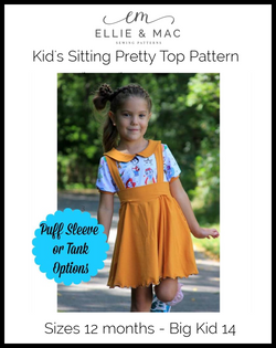Sitting Pretty Collar Top Pattern (kid's) Wacky