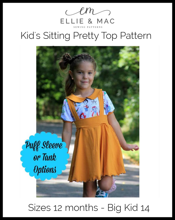 Sitting Pretty Collar Top Pattern (kids)