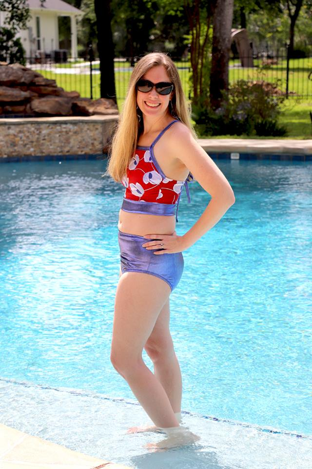 Women's Oasis Swimsuit Mix & Match Pattern - Ellie and Mac, Digital (PDF) Sewing Patterns | USA, Canada, UK, Australia