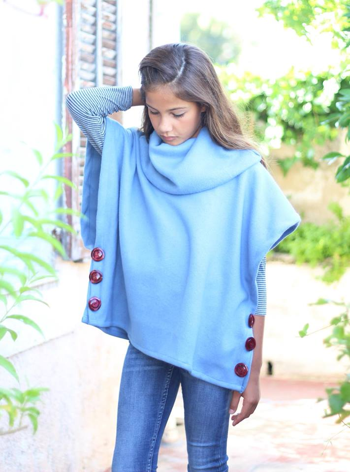 Girl's Sugar n' Spice Poncho Pattern