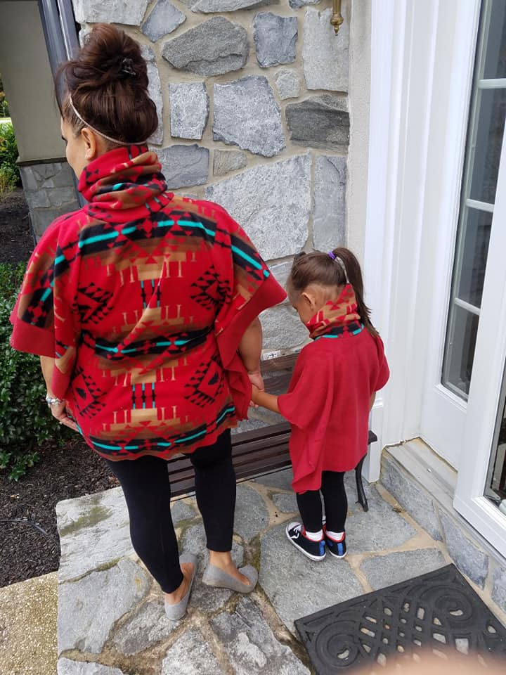 Women's & Girl's Sugar n' Spice Poncho Pattern Bundle - Ellie and Mac, Digital (PDF) Sewing Patterns | USA, Canada, UK, Australia