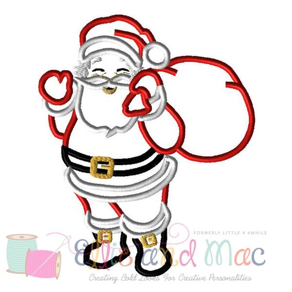Christmas Santa Applique Design - Ellie and Mac, Digital (PDF) Sewing Patterns | USA, Canada, UK, Australia