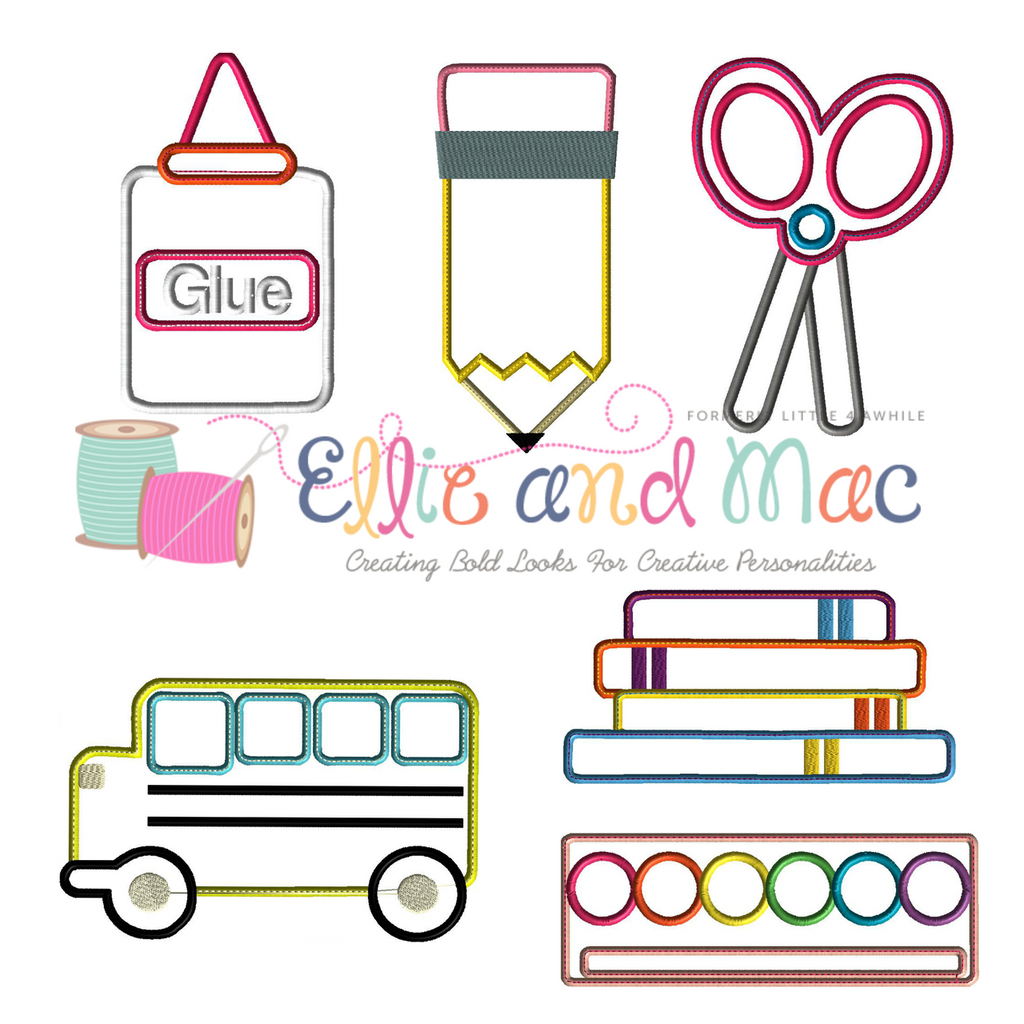 School Applique Design Set