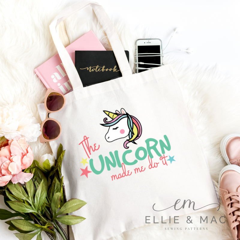 The Unicorn Made Me Do It SVG Cutting File