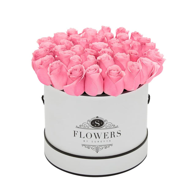 Elegance - Pink Roses - Medium / Black / Yes Please (FREE) - Elegance Pink Roses