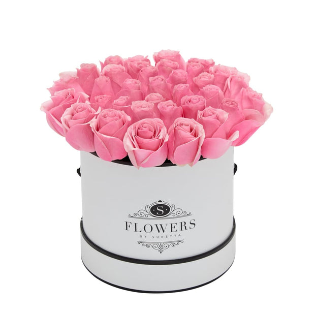 Elegance - Pink Roses - Small / White / Yes Please (FREE) - Elegance Pink Roses