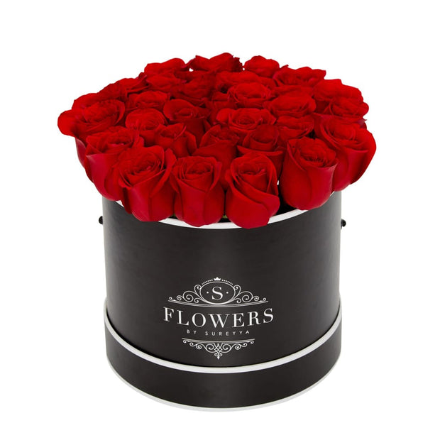 Elegance - Red Roses - Medium / Black / Yes Please (FREE) - Elegance Red Roses