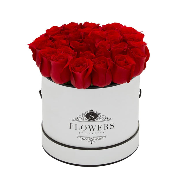 Elegance - Red Roses - Medium / White / Yes Please (FREE) - Elegance Red Roses