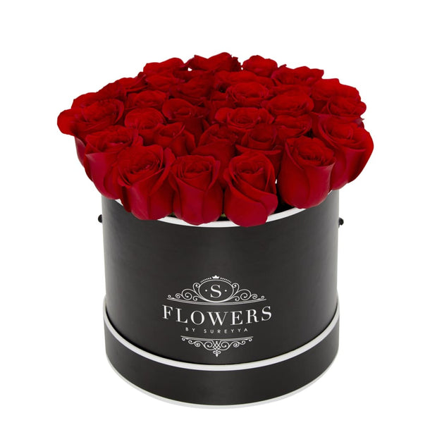 Elegance - Red Roses - Small / Black / Yes Please (FREE) - Elegance Red Roses