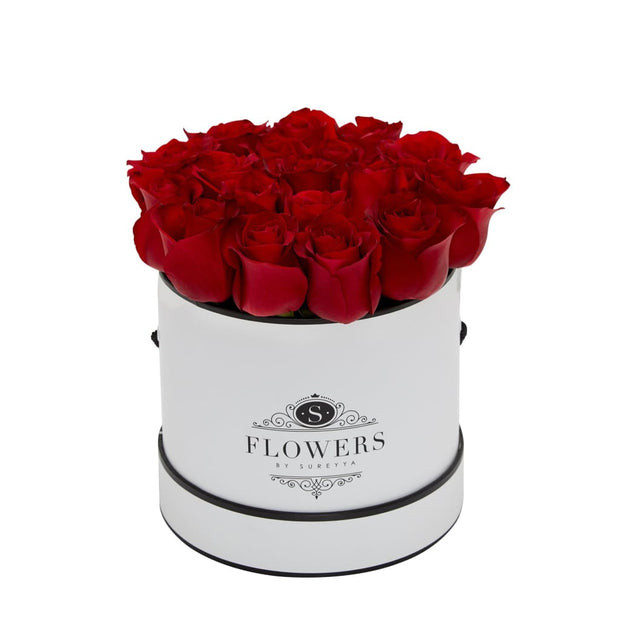 Elegance - Red Roses - Small / White / Yes Please (FREE) - Elegance Red Roses
