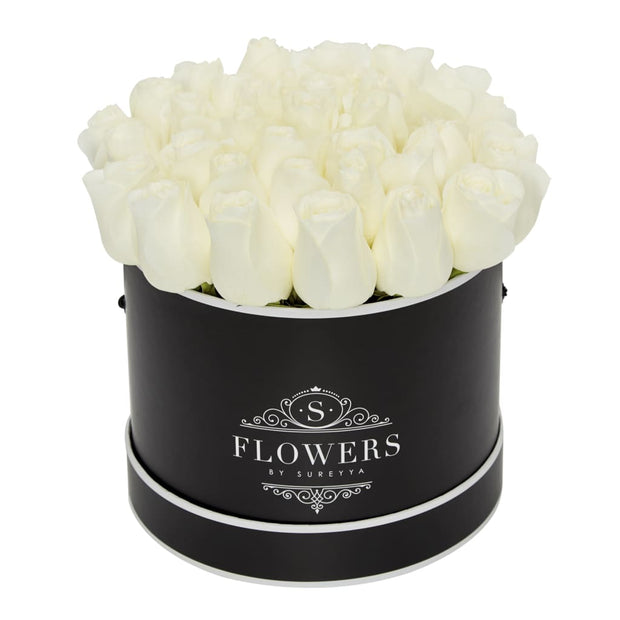 Elegance - White Roses - Large / Black / Yes Please (FREE) - Elegance White Roses