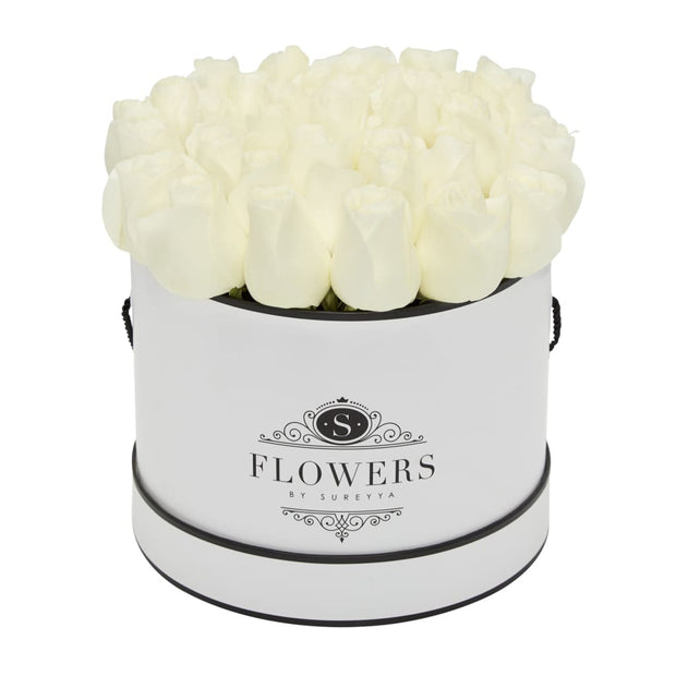 Elegance - White Roses - Large / White / Yes Please (FREE) - Elegance White Roses