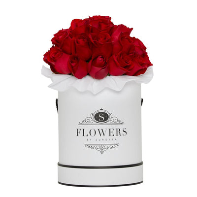 Luxury - Red Roses - Large / White / Yes Please (FREE) - Luxury Red Roses