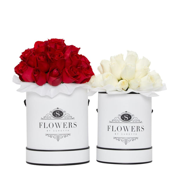 Luxury - Red Roses - Small / White / Yes Please (FREE) - Luxury Red Roses