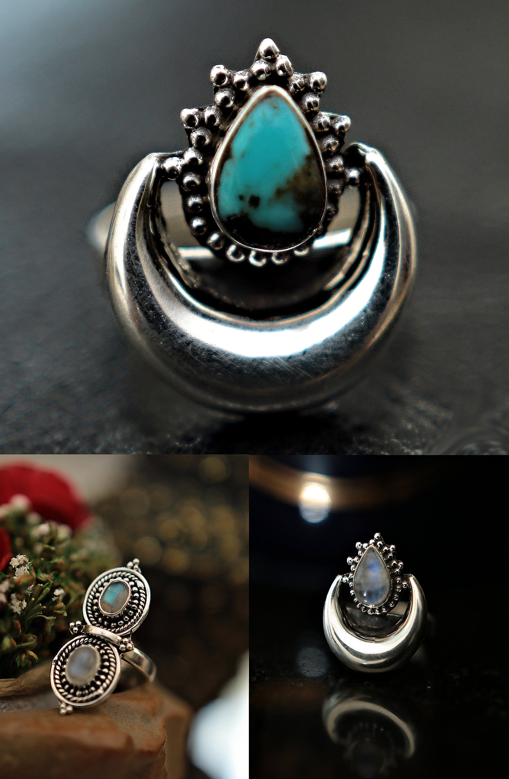 spell tobacco jagger rings goddess hand ring products large turquoise lg