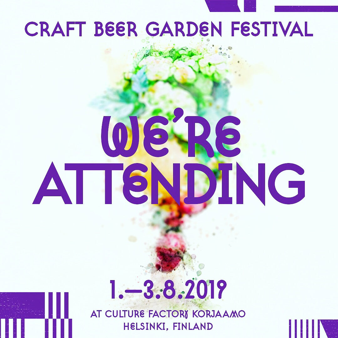 We're attending Craft Beer Garden Festival 2019 in Helsinki!