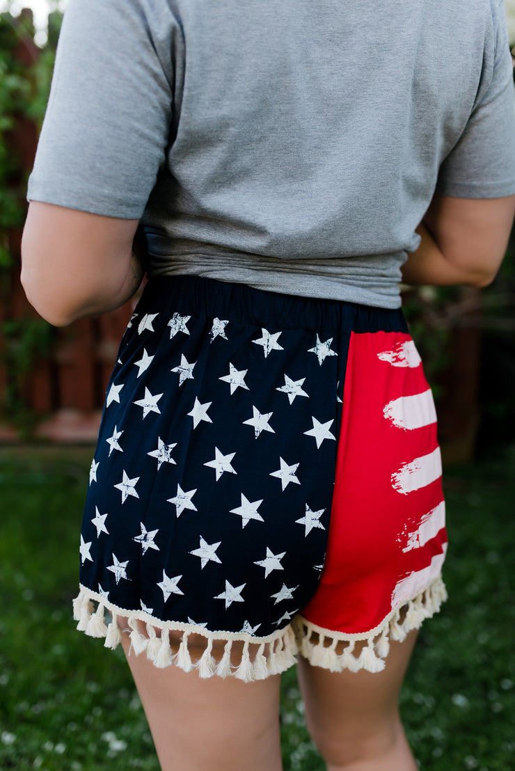 4th of July: American Flag Shorts