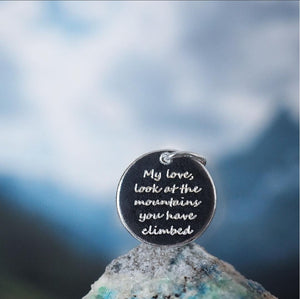 Mountains you have climbed pendant