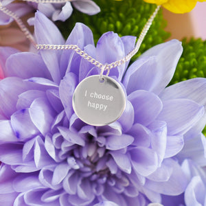 I choose happy pendant