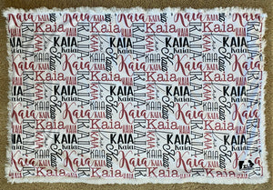 Personalized Baby Name Minky Blanket with Backing