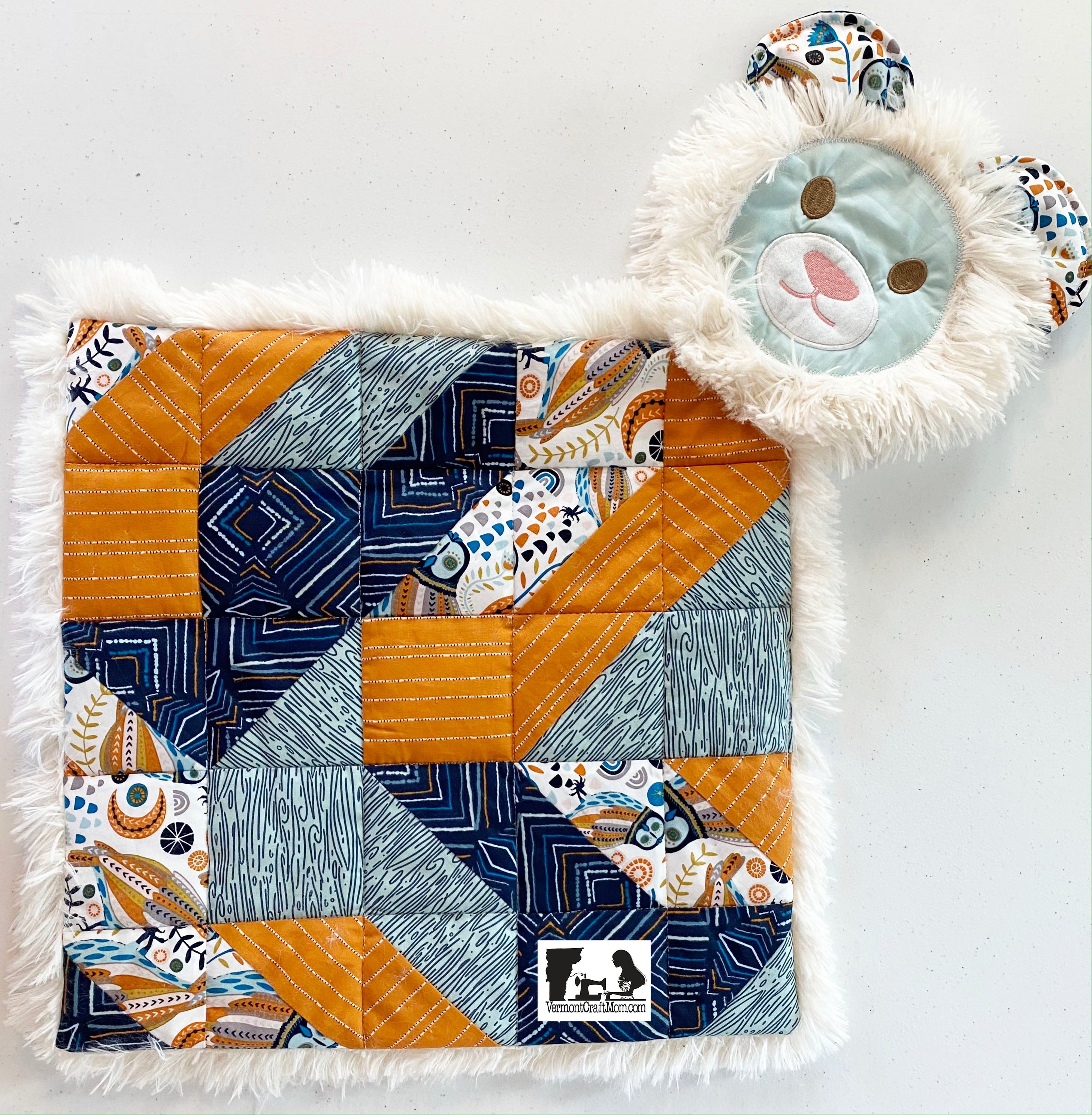 Regular Quilted Lovey Bear