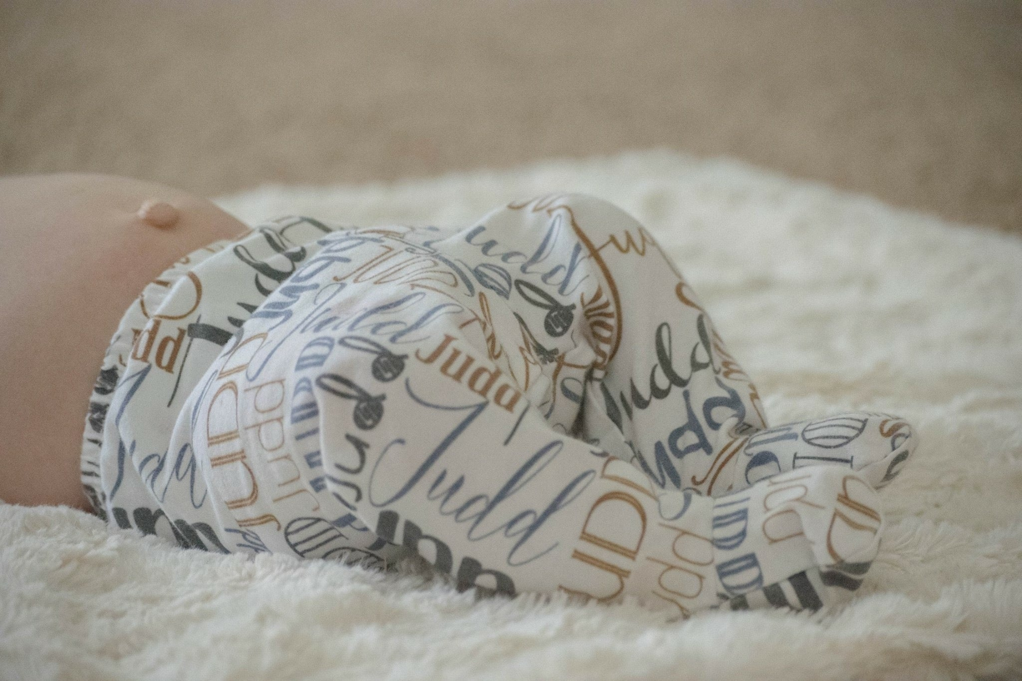 Personalized Baby Name Hat and Pants Set, Coming Home Outfit