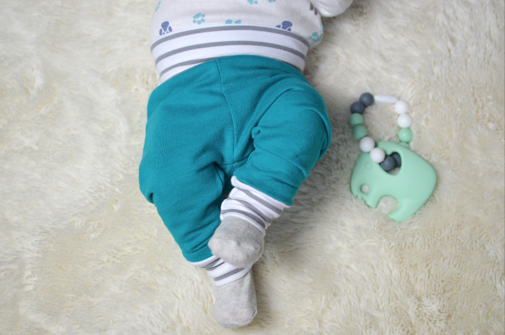 6-9 MonthsFrench Terry Joggers Jade/Striped