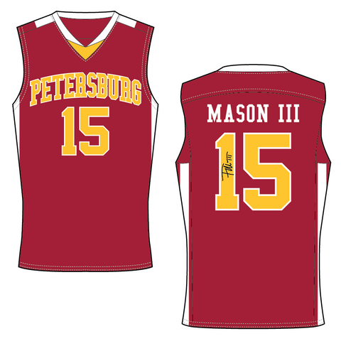FRANK MASON III AUTOGRAPHED RED HS JERSEY