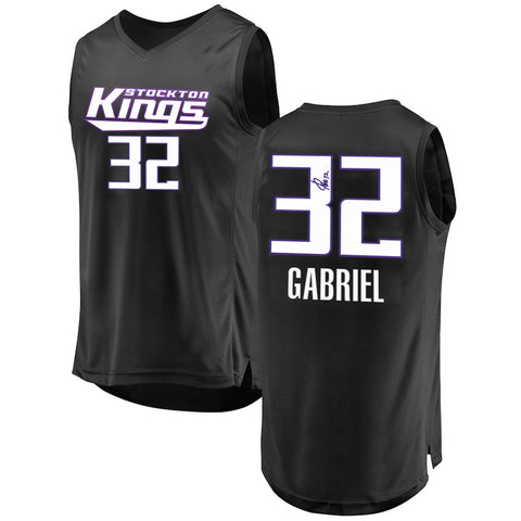 WENYEN GABRIEL AUTOGRAPHED BLACK MINOR LEAGUE PRO JERSEY