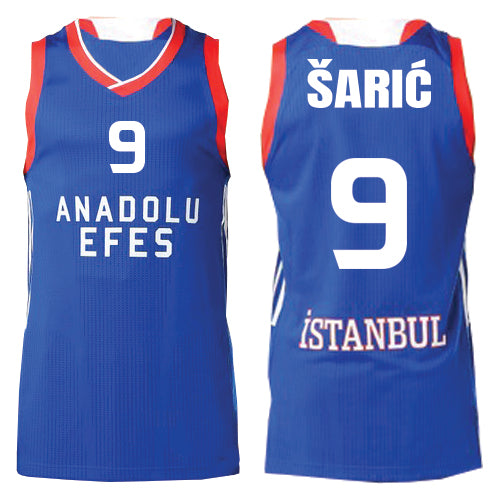 detailed look a6f77 248f9 DARIO SARIC AUTOGRAPHED BLUE EURO JERSEY