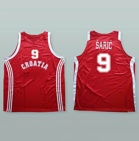 DARIO SARIC AUTOGRAPHED RED NATIONAL JERSEY