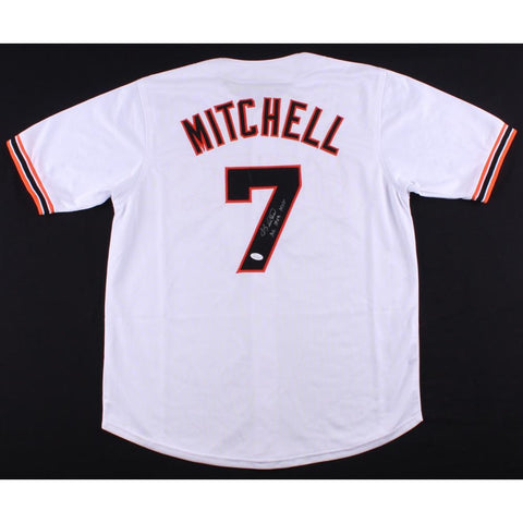 "Kevin Mitchell Signed Giants Jersey Inscribed ""NL 1989 MVP"" (JSA COA)"