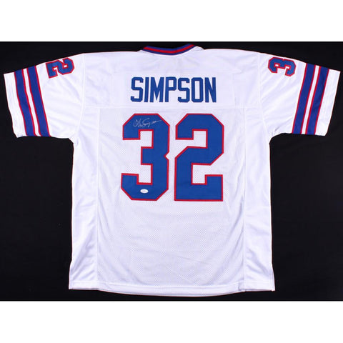 "O J Simpson Signed ""HOF"" Bills Jersey (COA)"