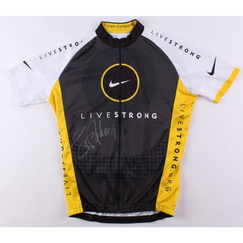 Lance Armstrong Signed Discovery Cycling Jersey (Schwartz COA)
