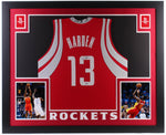 James Harden Signed Home Jersey Framed!