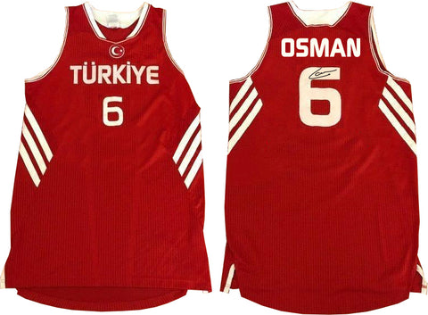 CEDI OSMAN AUTOGRAPHED RED NATIONAL JERSEY