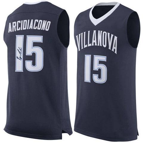 RYAN ARCIDIACONO AUTOGRAPHED BLUE COLLEGE JERSEY